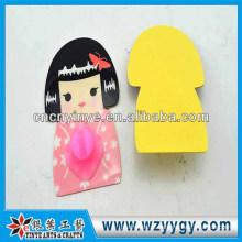 Porta-escovas sanitárias PVC, suporte do toothbrush adesivo de parede traceless de alta qualidade