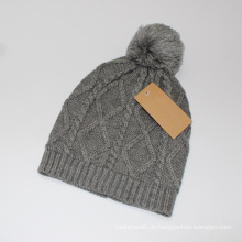 Unisex Strickkabel Diamond Print Winter warme Mütze Beanie (HW148)