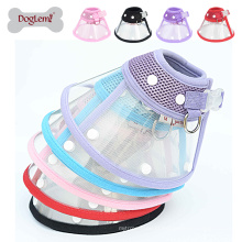 Abastecido Doglemi Ecológico Malha Dog Pet Cat Puppy Collar Protective Anti Mordida