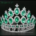 Coronas de cristal de la tiara del Rhinestone de la corona de la alta calidad
