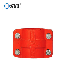 Red Sanitary Twin Screw Cable Carbon Steel Pipe Clamps for Hydraulic Tube