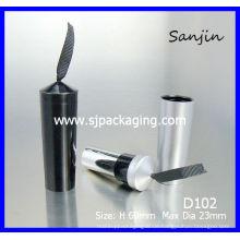 Lipgloss mit farbigem Seidenband Fashion Shinning Lip Glanz Schönheit Kosmetik schwarze Lippe Blam Container