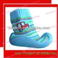 Baby rubber outsole shoe socks fashion cotton sweat
