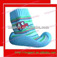 Sapatos de borracha de borracha de bebê suéter de moda suor de algodão