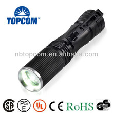 High power rechargeable led flashligh with zoom