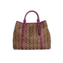 Fashion Ladies Embroidered PU Handbag with Superior Workmanship