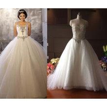 Кристалл Лиф Бальное Платье Свадебное Платье