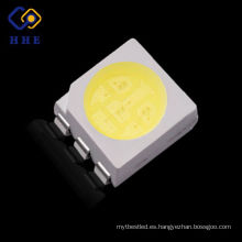 super brillante 0.2 w led smd 5050 blanco 6 pin smd led chip para tira