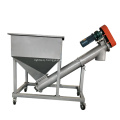 Low noise screw conveyor for flour