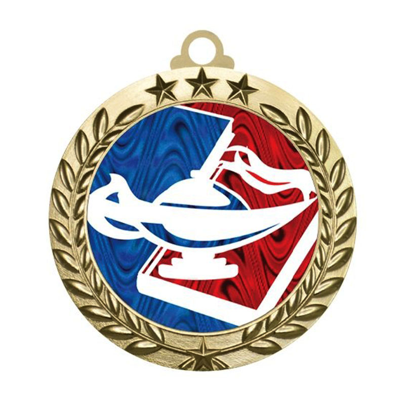 Solid Die Cast Knowledge Value Medals Gold