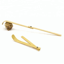 Colher dobrável feito a mão de bambu (Chashaku) para Matcha / chá verde em pó