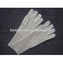 Pure color 100% cashmere gloves
