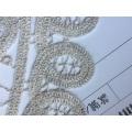 Costura personalizada en forma de parche de bordado de cuerda