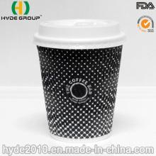 Taza de café de papel corrugado de 22 oz, Vaso de papel ondulado desechable (8 oz)