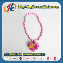 Beautiful Kids Plastic Heart Shape Necklace Toy
