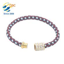 Conception simple avec le bracelet en métal plaqué par or de femmes de mode