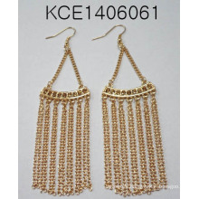 Wholesale Fashion Jewelry Earrings with Metal Tassel Beauty