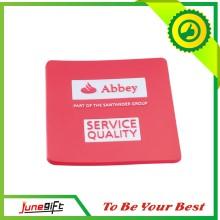 2014new Custom Saquare Soft PVC Coaster for Gift