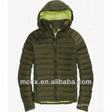 deep green hooded fashion women down jacket