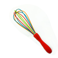 customized hand mixer colorful silicone wire egg whisk