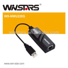 USB Ethernet Adapter,Support USB full and high speed modes with bus power capability,Plug-and-play,CE,FCC