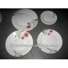 Популярные круглые фарфоровые тарелки 18шт.