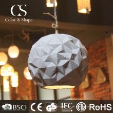 Lámpara de techo colgante blanca al por mayor con forma de bola