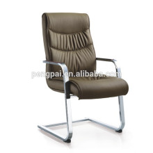 Hot sale model D-B38-8# brown green color office chair /leather visitor chair