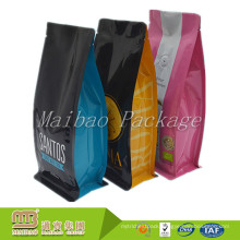 High Quality Custom Printed Glossy Laminated Side Gusset Packaging Vacuum Seal Coffee Bags With Valve