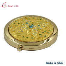 Engraved Zinc Alloy Butterfly Make up Mirror