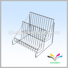 3 tier powder coated metal wire countertop candy display rack