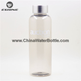 Experienced Sales Team Customized Logo 500ml Clear Plastic Drinking Water Bottle Wholesale with Stainless Steel Lid