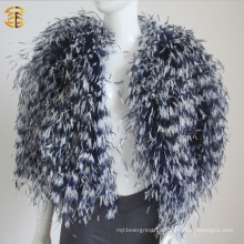 2016 New Real Natural Ostrich Fur Feather Fur Coat Casaco Multicolor para Mulheres