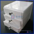 China Factory Custom White Acrylic Makeup Organizer Drawers
