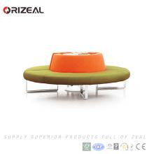 Modulaire Canapé rond modulaire de conception de meubles de salon d'Orizeal avec le cadre d'acier inoxydable (OZ-OSF021)