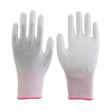 13G Seamless Carbon Fiber Conductive ESD Gloves ESD PU Coated Gloves