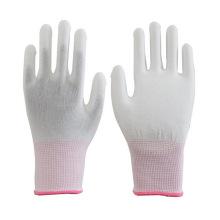 13G nahtlose Carbon Faser leitende ESD Handschuhe ESD PU beschichtete Handschuhe