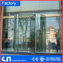 Porte tournante automatique en acier inoxydable pleine vitre 316