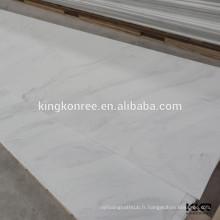 bordure de douche en marbre cultivé non poreux à entretien minime