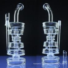 Doble pila DAB Rig para el humo con el tazón de fuente de cristal (ES-GB-045)