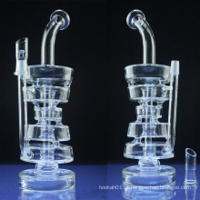 Duplo Stack DAB Rig para fumo com vidro Bowl (ES-GB-045)