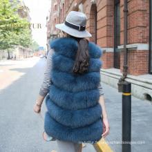 Différentes tailles costume femme réel veste de fourrure de renard