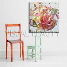 Impresión divina de la lona de la flor, pintura enmarcada para la decoración casera