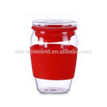 Gesunde Ware persönliche perfekte Büro Glas Tee Tasse mit Sieb / Filter / Infuser