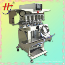 bowl tampo printing machine, 6 color pad print machine, ink cup pad printer machine