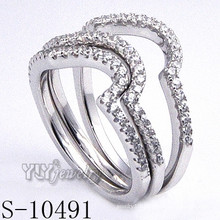 925 Silver Zirconia Jewelry with Women Combination Ring (S-10491)