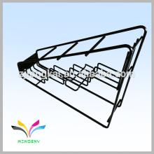 Ladder style 4 holder black metal liquor bottle display shelf for wine bottle