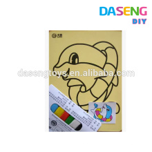 Supply children diy toy cheap colored sand art paperboard