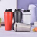 Bouteille de forme physique d'agitateur de protéine de mélangeur de bouteille de mélangeur de bouteille en métal pour la gymnastique