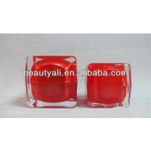 15ml 30ml 50ml Luxo Square Cream Cosméticos Jar Embalagem